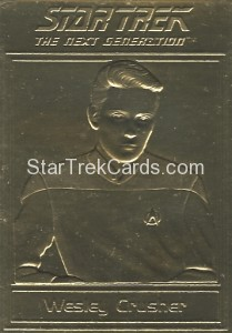 Star Trek Gold Sculptured Cards Wesley Crusher