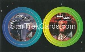 Star Trek The Next Generation Stardiscs Trading Card 25