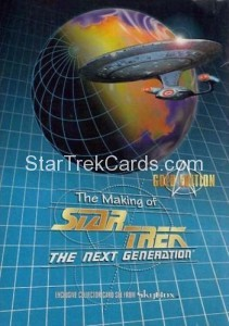The Making of Star Trek The Next Generation Trading Card Gold Edition