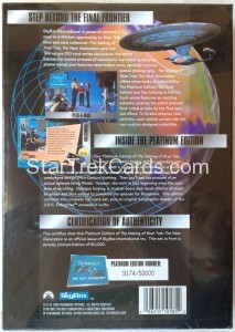The Making of Star Trek The Next Generation Trading Card Platinum Edition Back