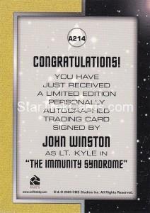 Star Trek The Remastered Original Series Trading Card A214 Back