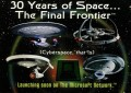 30 Years of Star Trek Phase Two Trading Card Website Advertisement