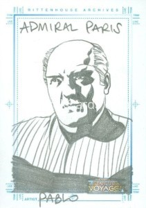 The Complete Star Trek Voyager Trading Card Sketch Admiral Paris Correct Version