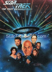 Star Trek The Next Generation Waldenbooks Trading Card Bridge Crew Front