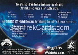 Star Trek The Next Generation Waldenbooks Trading Card Q Back