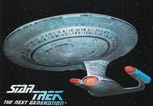 Star Trek The Next Generation Waldenbooks Trading Card U.S.S. Enterprise 1701 D Front