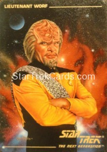 Star Trek The Next Generation Card Collection Hamilton Lieutenant Worf Front