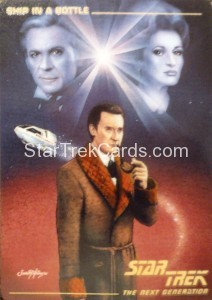 Star Trek The Next Generation Card Collection Hamilton Ship in A Bottle Front