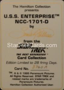 Star Trek The Next Generation Card Collection Hamilton USS Enterprise NCC 1701 D Back