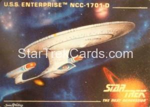 Star Trek The Next Generation Card Collection Hamilton USS Enterprise NCC 1701 D Front