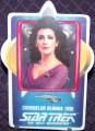 Star Trek Porcelain Cards Counselor Deanna Troi
