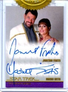 Star Trek The Next Generation Portfolio Prints Series One Autograph Frakes Sirtis