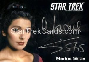 Star Trek The Next Generation Portfolio Prints Series One Autograph Marina Sirtis