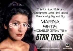 Star Trek The Next Generation Portfolio Prints Series One Autograph Marina Sirtis Back