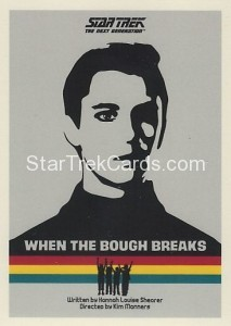 Star Trek The Next Generation Portfolio Prints Series One Trading Card 17