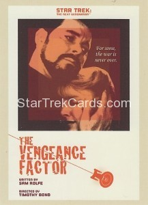 Star Trek The Next Generation Portfolio Prints Series One Trading Card 55