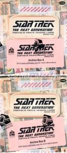 Star Trek The Next Generation Portfolio Prints Series One Trading Card Archive Boxes