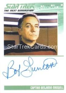 Star Trek The Next Generation Portfolio Prints Series One Trading Card Autograph Bob Gunton