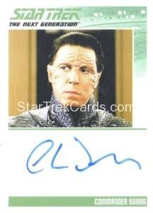 Star Trek The Next Generation Portfolio Prints Series One Trading Card Autograph Charles Dennis