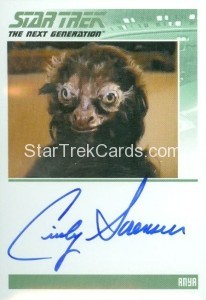 Star Trek The Next Generation Portfolio Prints Series One Trading Card Autograph Cindy Sorenson