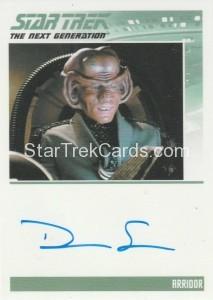 Star Trek The Next Generation Portfolio Prints Series One Trading Card Autograph Dan Shor