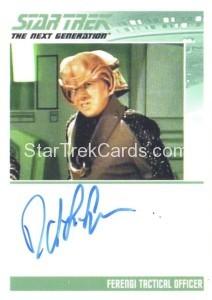Star Trek The Next Generation Portfolio Prints Series One Trading Card Autograph David L. Lander