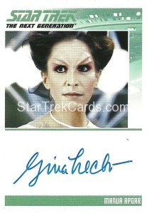 Star Trek The Next Generation Portfolio Prints Series One Trading Card Autograph Gina Hecht