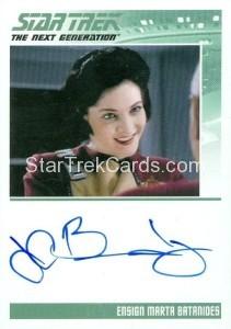 Star Trek The Next Generation Portfolio Prints Series One Trading Card Autograph J C Brandy