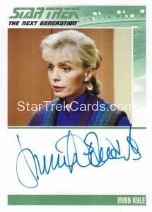 Star Trek The Next Generation Portfolio Prints Series One Trading Card Autograph Jennifer Edwards
