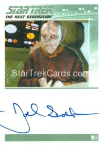Star Trek The Next Generation Portfolio Prints Series One Trading Card Autograph Joel Swetow