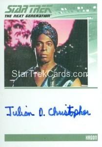 Star Trek The Next Generation Portfolio Prints Series One Trading Card Autograph Julian Christopher