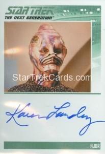 Star Trek The Next Generation Portfolio Prints Series One Trading Card Autograph Karen Landry