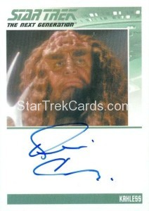 Star Trek The Next Generation Portfolio Prints Series One Trading Card Autograph Kevin Conway