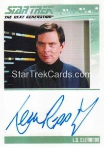Star Trek The Next Generation Portfolio Prints Series One Trading Card Autograph Leon Rippy