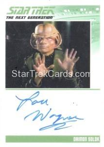 Star Trek The Next Generation Portfolio Prints Series One Trading Card Autograph Lou Wagner