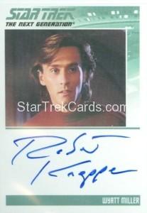 Star Trek The Next Generation Portfolio Prints Series One Trading Card Autograph Robert Knepper