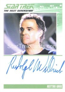Star Trek The Next Generation Portfolio Prints Series One Trading Card Autograph Rudolph Willrich