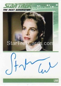 Star Trek The Next Generation Portfolio Prints Series One Trading Card Autograph Stephanie Erb
