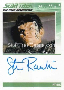Star Trek The Next Generation Portfolio Prints Series One Trading Card Autograph Steven Rankin