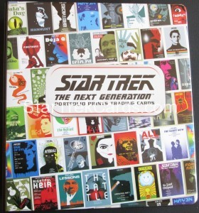 Star Trek The Next Generation Portfolio Prints Series One Trading Card Binder