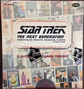 Star Trek The Next Generation Portfolio Prints Series One Trading Card Box