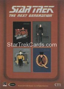Star Trek The Next Generation Portfolio Prints Series One Trading Card CT1 Back
