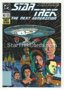 Star Trek The Next Generation Portfolio Prints Series One Trading Card Comic 01