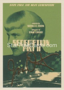 Star Trek The Next Generation Portfolio Prints Series One Trading Card Gold 101
