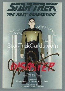 Star Trek The Next Generation Portfolio Prints Series One Trading Card Gold 105