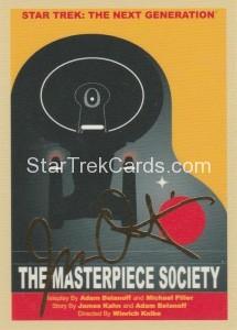 Star Trek The Next Generation Portfolio Prints Series One Trading Card Gold 113