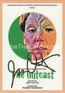 Star Trek The Next Generation Portfolio Prints Series One Trading Card Gold 117