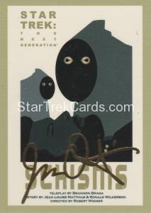Star Trek The Next Generation Portfolio Prints Series One Trading Card Gold 131