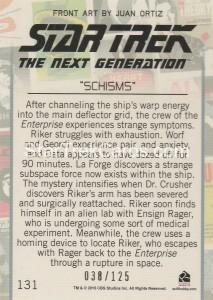 Star Trek The Next Generation Portfolio Prints Series One Trading Card Gold 131 Back