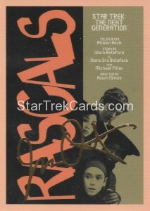 Star Trek The Next Generation Portfolio Prints Series One Trading Card Gold 133